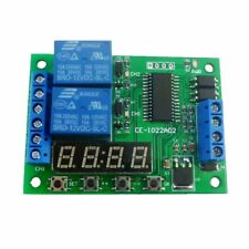 IO22A02 DC 12V 2CH Multi-function Delay Relay Timer Time Switch for PLC LED