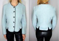 GIESSWEIN Button Front Boiled Wool+Alpaca Short Blazer Jacket Made in Austria L