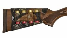 Mossy Oak Shotgun Shell Carrier - Buttstock Ammo Holder - Neoprene Break Up Camo