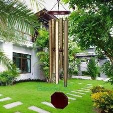 31in Metal 6 Tubes Windchime Chapel Bells Wind Chimes Outdoor Garden Home Decor