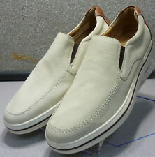 258308 MS38 Men's Shoes Size 9.5 M Light Beige Leather Slip On Johnston & Murphy