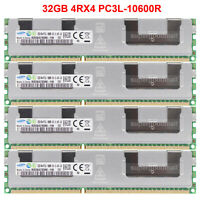 For Samsung 128GB 64GB 32GB 4RX4 PC3L-10600R DDR3-1333MHz ECC Registered Memory