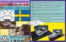 ANEXO DECAL 1/43 LANCIA DELTA S4 K.GRUNDEL 1000 LAKES 1986 6th (01)