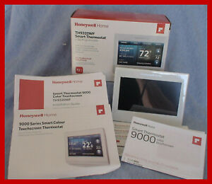 Honeywell TH9320WF WiFi SMART Color Thermostat with Gloss White Bezel