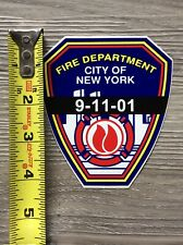 Fire Department City Of New York 9-11-01  Decal Sticker