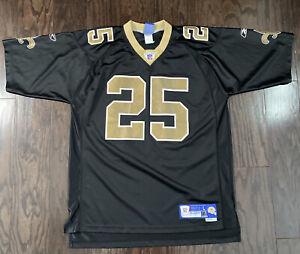 New Orleans Saints NFL Football Reggie Bush #25 Reebok Field Jersey Mens Large