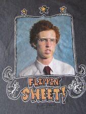 Mens NAPOLEAN DYNAMITE Mighty Fine Flippin Sweet Cotton Grayish T Shirt Shirts M