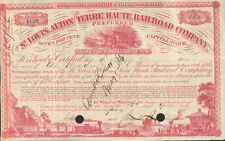 1862 St. Louis Alton and Terre Haute Railroad > IL & IN stock certificate