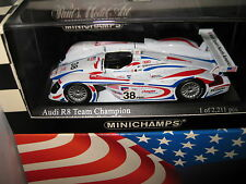 MINICHAMPS 1.43 AUDI R8 ALMS LE MANS 2001 #38 TEAM CHAMPION WITH OUTER SLEEVE