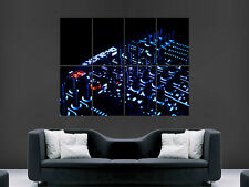 DJ MUSIC MIXING CONSOLE GRAHIC EQUALISER  ART WALL LARGE IMAGE GIANT POSTER