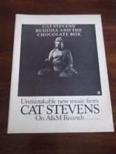 1974 VINTAGE B&W PRINT AD for CAT STEVENS BUDDHA AND THE CHOCOLATE BOX ALBUM