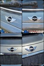 2002 & up Mini Cooper & S model Front & Rear Badge Emblem Vinyl Sticker Overlays