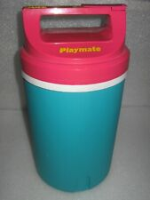 Vintage Igloo Playmate 1 Gallon Thermos Water Jug Cooler Turquoise & Pink 1990