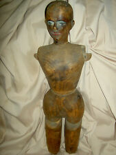 Large antique 1800s, wood mortise jointed, ARTICULATED artist MANNEQUIN needsTLC