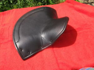 black COVER upper for Large Lycette SEAT solo Saddle - BSA Triumph Norton AMC ++