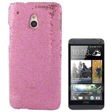 Hardcase Glitzer Style für HTC One Mini in rosa Etui Hülle Case Cover Schutzcase
