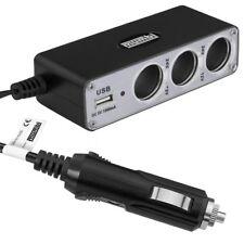 mumbi KFZ 3-fach Verteiler 12V / 24V Zigarettenanzünder + 1x USB 1000mAh