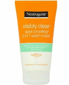 Neutrogena Visibly Clear Spot Proofing 2In1 Facial Cleanser Wash Mask Spots Acne