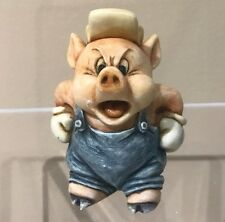 Disney Harmony Kingdom Figurine New in Box Three Little Pigs Practical Pig LTD