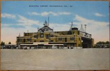 Indianapolis, IN 1940 Postcard: Municipal Airport - Indiana Aviation
