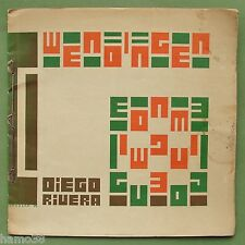 Vilmos Huszar 1929: book cover art: WENDINGEN X-3 Diegos Rivera (De Stijl)