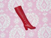 Mattel Barbie Doll ~ VINTAGE MOD SNAP TO IT LACE UP RED BOOT ~ Replacement #3429