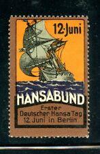 Germany Advertising Poster Stamp Hansa Bund Stamp
