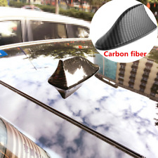 1Pcs Carbon Fiber Car Exterior ABS Shark Fin Shape Adhesive Roof Decorative Ant