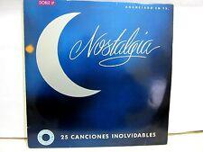 NOSTALGIA 25 canciones inolvidables doble LP Spain mint /mint