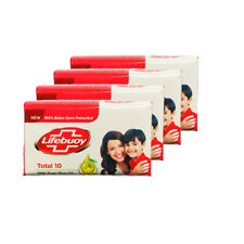Lifebuoy Total 10 With Pure Olive Oil Soap Bathing Bar 4x100g Pack 60% TFM