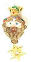 Vintage Department 56 Ornaments We Three Kings Wise Men Whimsical Bearded Plump