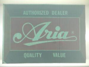 ARIA GUITAR AUTHORIZED DEALER BIG Window Door Decal Sticker Vtg 1980 UNUSED RARE