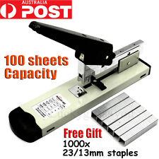 100 Sheet Stapling Capacity Bookbinding Heavy Duty Metal Stapler +1000 Staples
