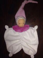 Puppe Waldorf Gesicht Weiß Rosa Schmusetuch Schnuffeltuch Kuscheltuch Zipfelmütz
