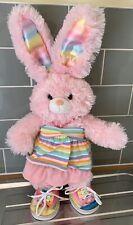 Build A Bear Pink Rainbow Bunny Rabbit Plush VGC