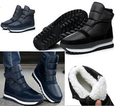 Mens Winter Snow Warm Ankle Boot Fleece Lined Thicken Waterproof Shoes Antiskid