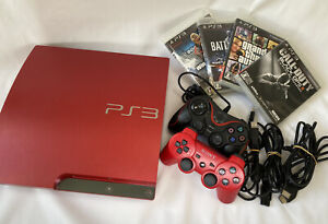SONY PlayStation 3 PS3 320GB Red CECH-3000B SR console 4 game soft set japan ②