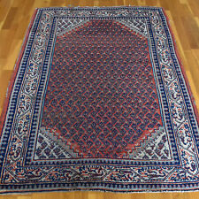 Lovely Red Handmade Vintage Traditional Oriental Wool Rug 150 X 110cm