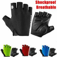 ROCKBROS Cycling Half Finger Black Bike Gloves Shockproof Breathable MTB Gloves
