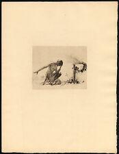 Original Print-WOMAN-BURNING-KNEELING-ALTAR-OFFERING-1920