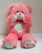 Build-A-Bear Pink Heart Bear Magnetic Cheeks Paws Plush Stuffed Animal