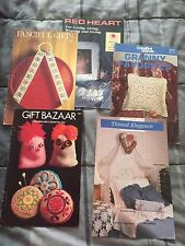 Vintage Crochet Knit Books Patterns Lot 59