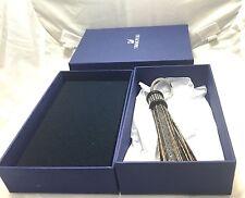 NEW NIB Blue Gift Box Swarovski Tayla Reptile Embossed Leather Key Ring 5039236
