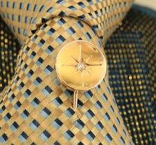 Antique Victorian Vintage 9ct & 18ct Gold Diamond Tie Lapel Pin Stick Pin. NICE1