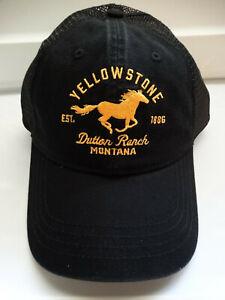 Yellowstone Tv Show Horse Logo Dutton Ranch Licensed Trucker Black Hat