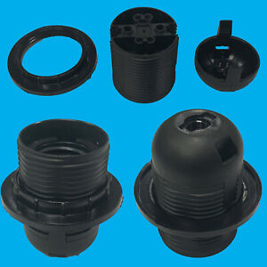 Black Edison Screw ES E27 M10 Light Bulb Lamp Holder Pendant Socket Lampshade