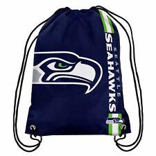 Seattle Seahawks Back Pack/Sack Drawstring Gym Bag Sport Backpack Side Stripe