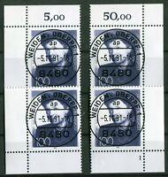 Bund 1575 Eckrand Ecke 1 - 4 gestempelt EST Vollstempel Weiden Formnummer 1 used