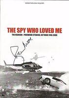Hand Signed Programme ROGER MOORE - The Spy Who Loved Me - 007 JAMES BOND + COA