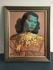 La Dama Verde, Niña chino, Vladimir Tretchikoff. impresión Retro Enmarcado